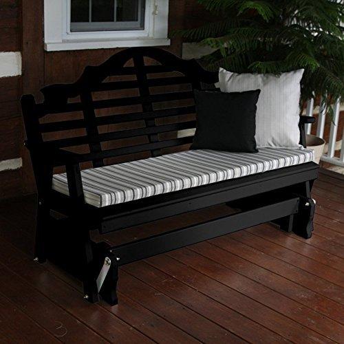 A & L Furniture Yellow Pine Marlboro Glider Bench, 4', Black
