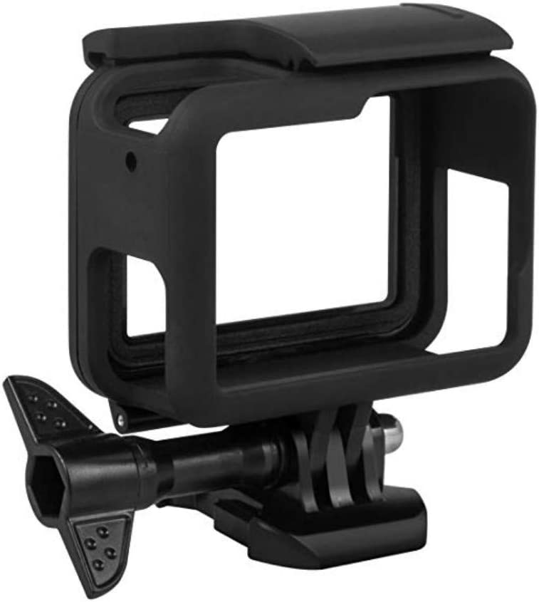 Mydio Frame Compatible with GoPro Hero 7 Black/ 6/5/ Hero (2018) Housing Protective Shell Case Accessories for Go Pro Hero7 Hero6 Hero5(Black)