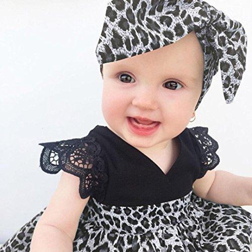 b8efa7b1781 Sunbona Infant Baby Girls Princess Summer Sleeveless Leopard Print Tutu  A-Line Dresses with Headband