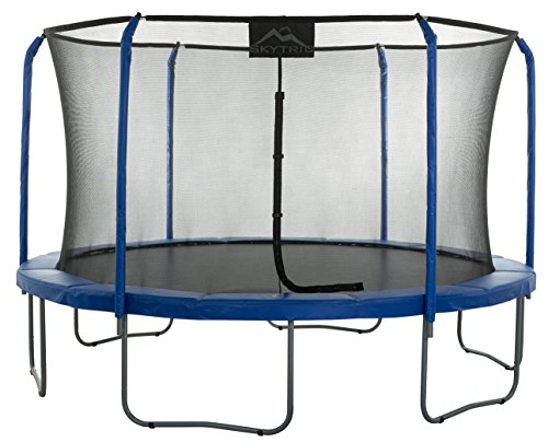 Skytric-Round-Trampoline-Set-with-Premium-Top-Ring-Enclosure-System