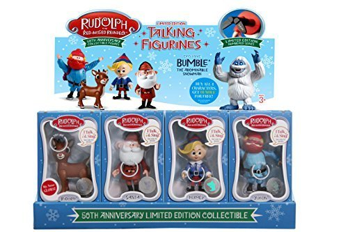 Rudolph The Red Nosed Reindeer Set (Rudolph the Red-Nosed Reindeer 50th Anniversary Limited Edition Collectible- Set of 4)
