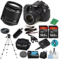 Canon EOS 70D DSLR with 18-55mm IS STM + 2pcs 16GB Memory Card + Camera Case + Memory Card Reader + Tripod + 6pc ZeeTech Starter Set - International Version
