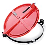 "New Pig Latching Drum Lid, For 55 Gal Steel Drums, One-Hand Latch, Bolt-Ring, Locking Lid, 26.75"" L x 23.25"" W x 4.375"" H, Red, DRM659-RD"