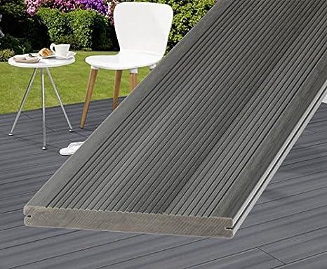 Pavimenti In Plastica Per Terrazzi.Pavimenti In Terrazzo Wpc Grigio 500 Cm Dream Deck Platinum Pieno