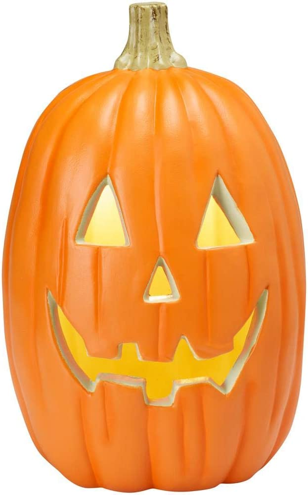 """Home Accents Tall Realistic Lighted Jack O Lantern Pumpkin Halloween Decoration Prop 16"""""""