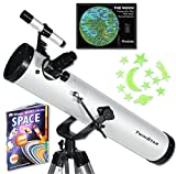 "White TwinStar FirstStar 3"" Reflector Telescope Kids Pak Bundle"