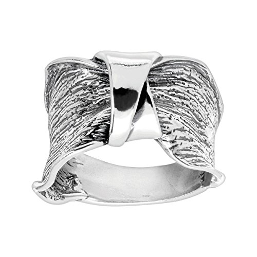 Silpada 'Bridge the Gap' Ruched Ring in Sterling Silver ()