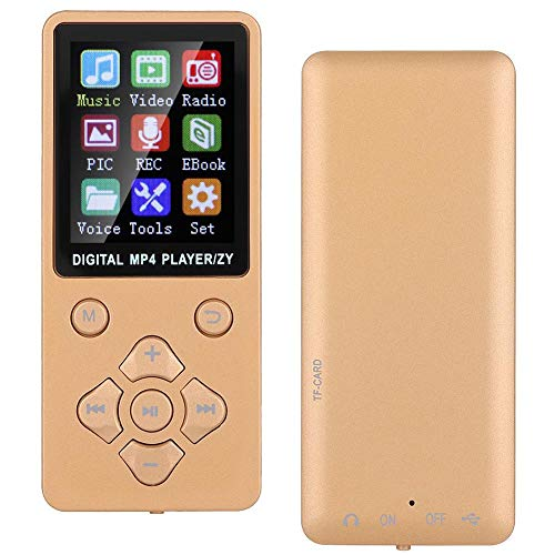 MP3 Player MP4 Player,T1 Portable Music MP3 MP4 Player 8G Bluetooth with a 32GB Micro Card, Lossless Sound Music Player with music, radio, recording, video, e-book,Cross-shaped Buttons (Rose gold)