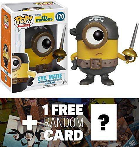 Eye, Matie: Funko POP! x Minions Vinyl Figure + 1 FREE CG Animation Themed Trading Card Bundle [51105] [51075]