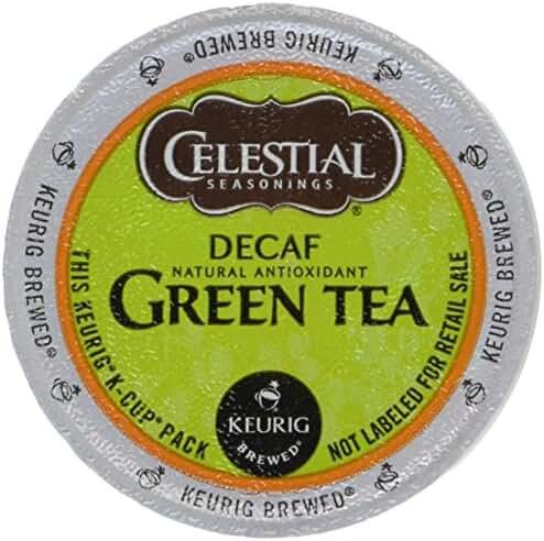 Celestial Seasonings Decaf Green Tea, K-Cup Portion Pack for Keurig K-Cup Brewers, 24-Count (Pack of 2)