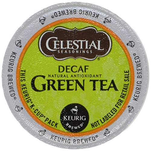 Celestial Seasonings Decaf Green Tea, K-Cup Portion Pack for Keurig K-Cup Brewers, 24-Count (Pack of 2)