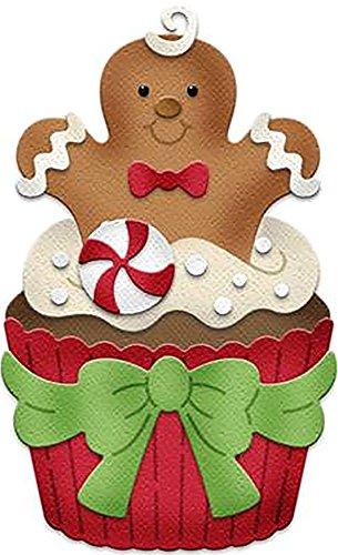 CottageCutz Dies-Gingerbread Man Cupcake, CC337, by CottageCutz, One (1)