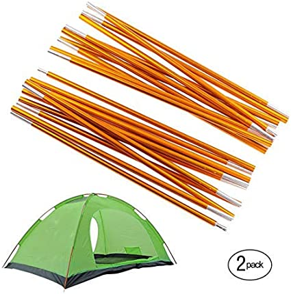2Pcs Collapsible Awning Poles Ultralight Backpacking Camping Tent Poles