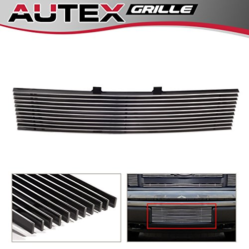 (AUTEX F66789A Aluminum Polished Lower Bumper Billet Grille Insert Compatible With Ford F150 Trucks 2009 2010 2011 2012 2013 2014)