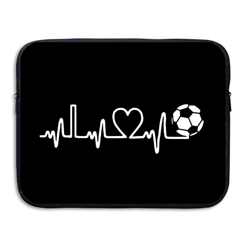 Summer Moon Fire I Love Soccer Briefcase Handbag Case Cover For 13-15 Inch Laptop, Notebook, MacBook Air/Pro