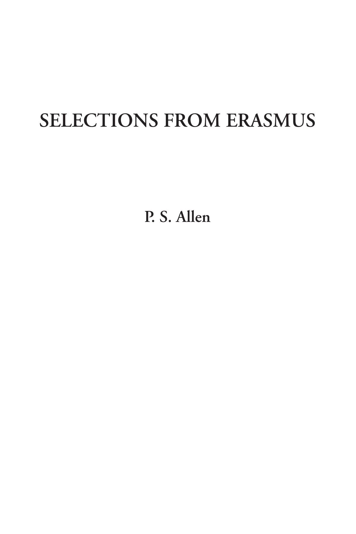 Download Selections from Erasmus ebook