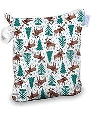 Thirsties Wet Diaper Bag, Merry Moose-mas