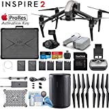 DJI INSPIRE 2 and DJI Goggles Combo with Zenmuse X4S 3-Axis Gimbal/Camera - Apple ProRes License Key - Pro Bundle