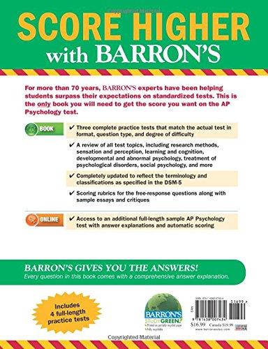 Buy Barron's AP Psychology (Barron's AP Psychology Exam