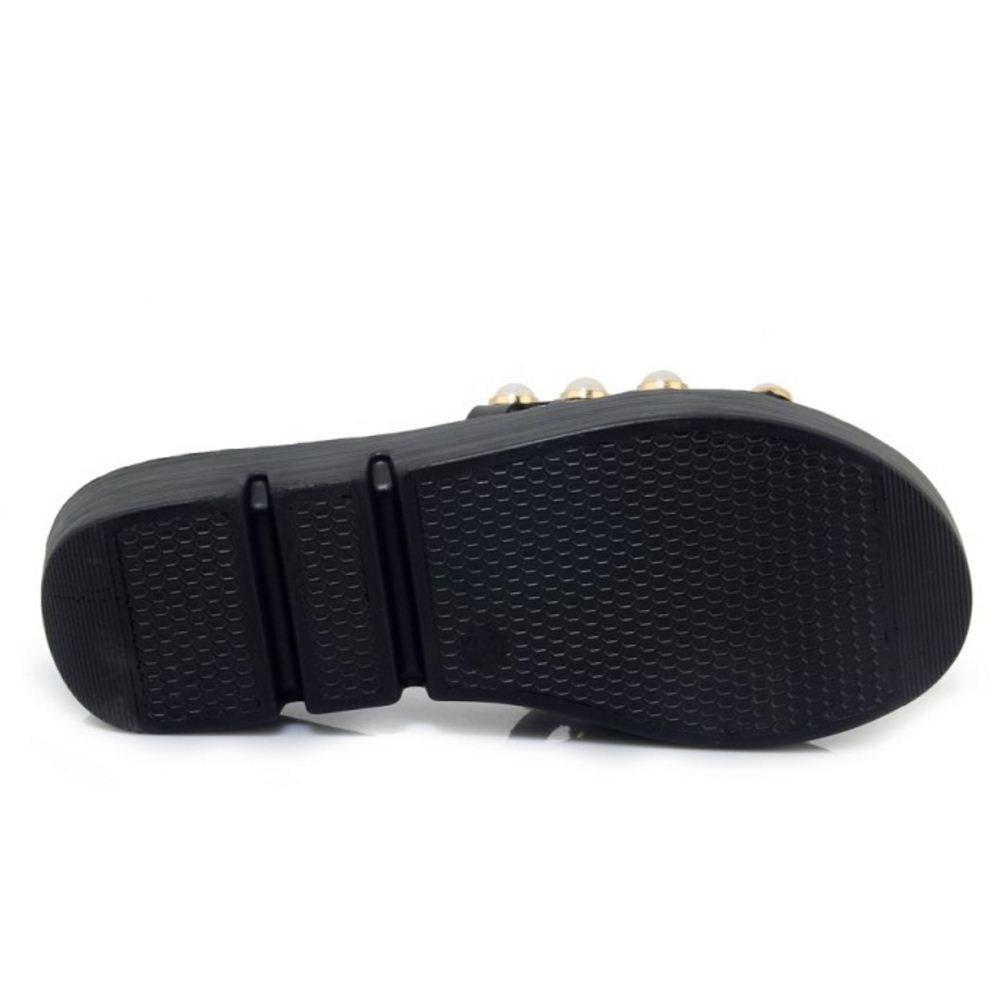 Zanpa Way Women Sweet Flatform Sandals 2 Way Zanpa B07CFKW2QP 9 US (sole length 25.5 CM)|2#Black b2ed2d