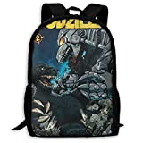 Suitson Godzilla Vs Mechagodzilla Casual Laptop Backpack for Women&Men, Lightweight Multi-Function Book Bag Travel Daypack 17inches