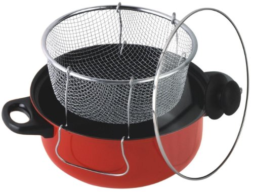 Gourmet Chef 4-1/2-Quart Non-Stick Deep fryer with Frying Basket and Glass Cover (Deep Fryer Non Stick compare prices)