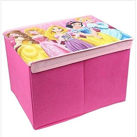 Niños niñas Disney Princess plegable caja de almacenaje libros ...