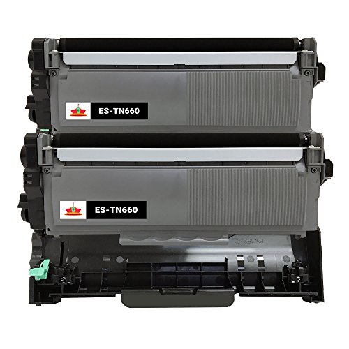 Drum Model Cartridge (Empire Supplies (2 Toner + 1Drum) Compatible TN660 2PK TN660 BK Black Toner Cartridge and DR630 Drum Unit for Brother use with Brother HL-L2300D HL-L2360DW HL-L2340DW HL-L2365DW DCP-L2540DW)