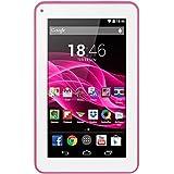 """Tablet M7S Quad Core Android 4.4 Kit Kat Dual Câmera Wi-Fi, Multilaser, NB186, 8 GB, 7"""", Branco/Rosa"""