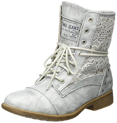 Mustang Mädchen 5018-511 Kurzschaft Stiefel Silber (21 silber)