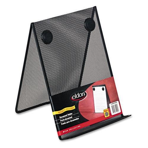 [ELDON OFFICE PRODUCTS Nestable Wire Mesh Freestanding Desktop Copyholder, Stainless Steel, Black (FG9C9500BLA)] (Eldon Office Products Wire)