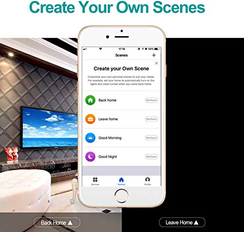 GPCT Smart App Controlled WiFi Plug Outlet. Works W/Alexa/Google Home/IFTTT, Remote Control To Any Connected Home Appliance, No HUB Required, Timer Function, Voice Control Smart Socket- iOS/Android by GPCT (Image #5)