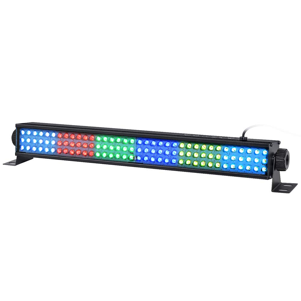 RGB Wash Lights, 20'' 25w 108 Leds Stage Lights Bar by DMX 512 and Sound Activated for Club Ballroom Uplights Wedding Party Stage Wash Lighting by Double-s