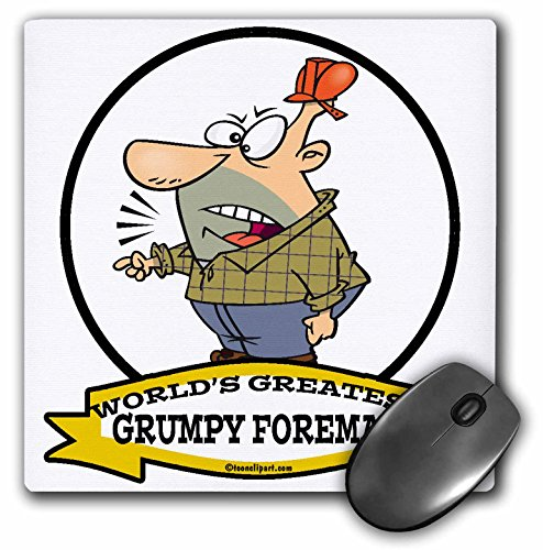 3dRose Dooni Designs Worlds Greatest Cartoons - Funny Worlds Greatest Grumpy Foreman Cartoon - MousePad (Foreman Photograph)