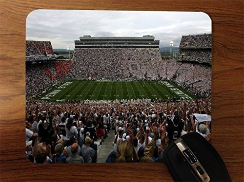 Pad Penn Mouse State - College Football Stadiums Desktop Office Silicone Mouse Pad by Compass Litho