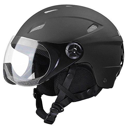 Yescom Kids Snow Sports Helmet ATSM Certified Ski Skate Board Protective Matte Black S by Yescom