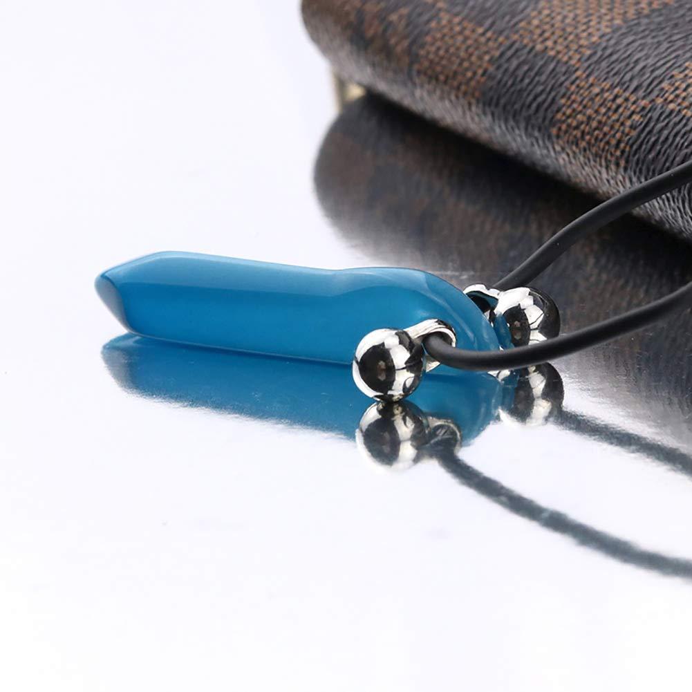 Fivekim Collier Cosplay Naruto Hokage Tsunade Uzumaki Charmes Collier Pendentif Halskette Anime Cosplay Bleu