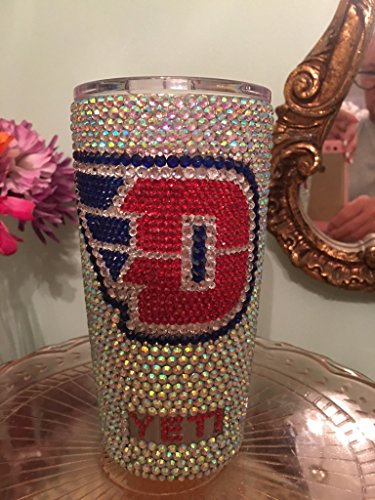 Rhinestone Yeti Rambler 20 oz with Collegiate Logo