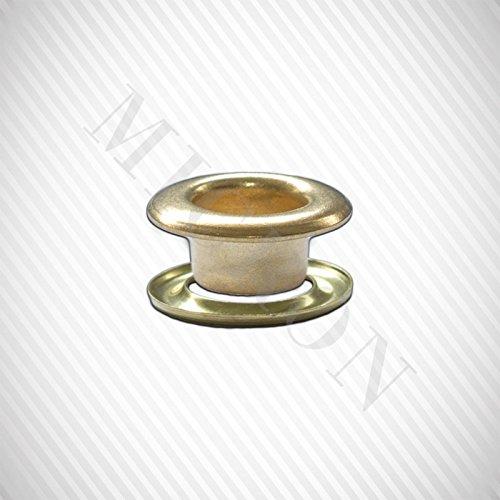 Micron Grommet Machine TEP-3, #00 Dies, #00 (11/64'') Grommet & Washer 500 Pairs Set. (Brass)