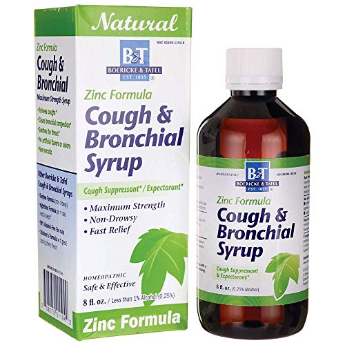 (Boericke and Tafel Cough and Bronchial Syrup with Zinc, 8 Fluid Ounce)