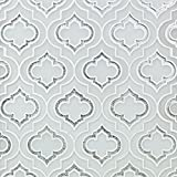 Mosaic Jet Emblem Super White Frosted, Silver Dust Line and Super White Frosted (Sold by:SHEET) MJEMBFSUPSLVDST