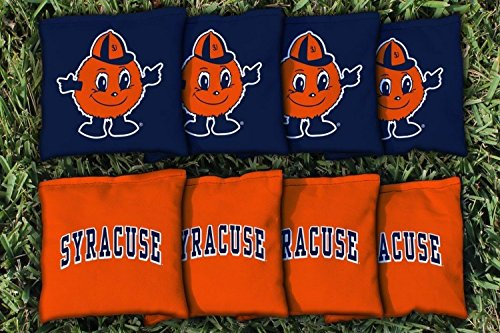 8 College Vault Syracuse University Orange Regulation Corn Filled Cornhole Bags