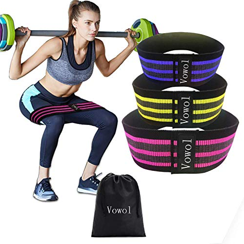(Vowol Hip Resistance Band, Resistant to Pull, Durable, can be Used in a Variety of Locations,Set of 3)
