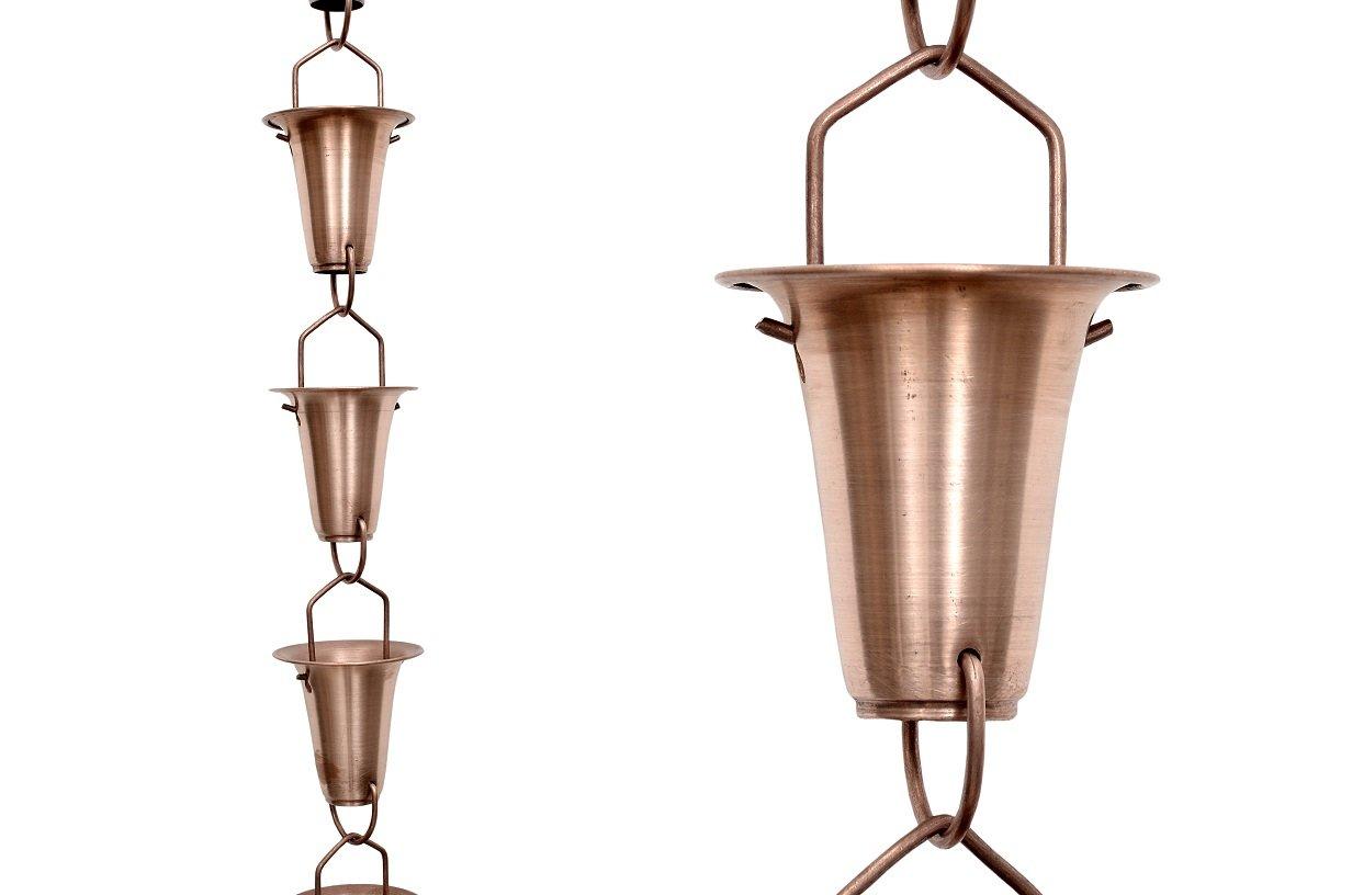 Rain Chain Copper Cup 8 Ft. # 9096