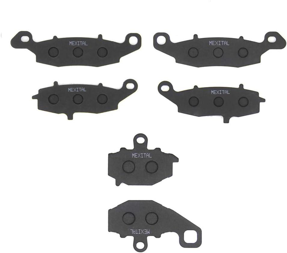 //GPZ1100//GPX1100 ZR400E //ER6n ER6f ER650 EX650 //Z750S/ //Z750 ZR750 06-16 ZX1100 E//F 04-05 95-98 MEXITAL Motorrad Bremsbel/äge Vorne 96 //ZRX400 07-14 05-07 Hinten f/ür KLE 650 /
