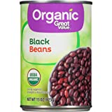 Great Value Organic Black Beans 15 oz (Pack of 6)