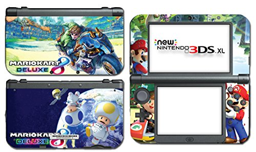 Mario Kart 8 Deluxe Animal Crossing Video Game Vinyl Decal Skin Sticker Cover for the New Nintendo 3DS XL LL 2015 System ()