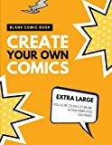 Blank Comic Book: Create Your Own Comics: Extra Large, 220 Pages, Action Templates (Blank Comic Book for Kids) (Volume 4)