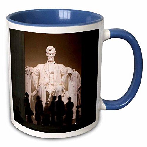 3dRose Danita Delimont - Statues - USA, Washington DC, Abraham Lincoln Memorial statue - US09 LFO0237 - Lee Foster - 15oz Two-Tone Blue Mug (mug_143557_11)