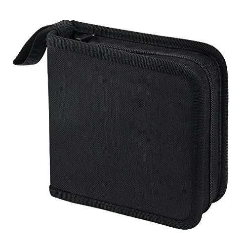 FORE¨ Classic Legend CD/DVD/Blu-Ray Dics 40pcs Wallet Case for CD/DVD Carrying Storage Made of Oxford Color Black